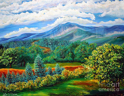 Blueridge Mountain Art Painting - Majestic View Of The Blue Ridge by Lee Nixon