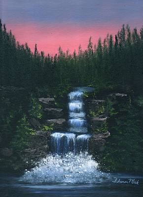 Water Color Painting - Majestic Waterfall by Sharon Mick