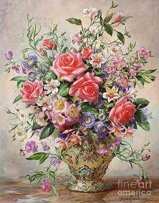 In Bloom Painting - Majesty by Albert Williams