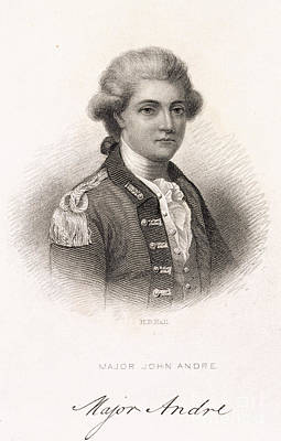 American Independance Photograph - Major John Andre by British Library