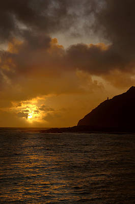 Makapuu Point Lighthouse Sunrise Print by Brian Harig