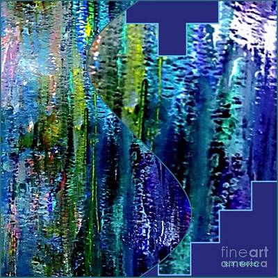 Make A Splash With Abstract  Print by Kimberlee Baxter