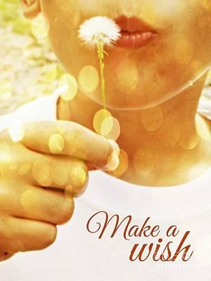 Dandelion Digital Art - Make A Wish by Valerie Reeves