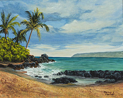 Famous Acrylic Landscape Painting - Makena Beach by Darice Machel McGuire
