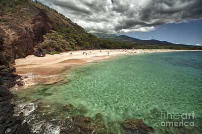 Makena Beach Maui Print by Paul Karanik
