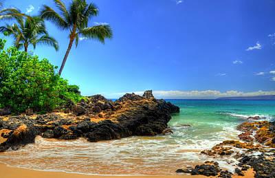 Maui Photograph - Makena Secret Cove by Kelly Wade
