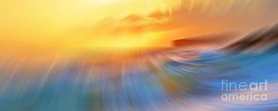 Abstract Beach Landscape Digital Art - Makena Sunset by Sean  James G