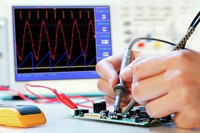 Making An Electronic Micro Processor Print by Wladimir Bulgar