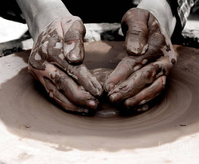 Pottery Photograph - Making Clay by Steven  Digman