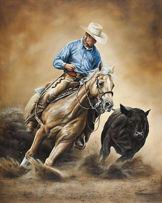 Rodeo Painting - Making The Cut by Kim Lockman