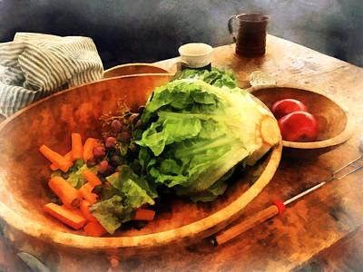 Bowls Photograph - Making Waldorf Salad by Susan Savad