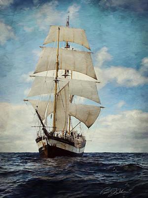 Ships Mast Digital Art - Making Way by Peter Chilelli