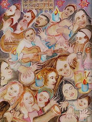 Painting - Melave Malkah by Chana Helen Rosenberg