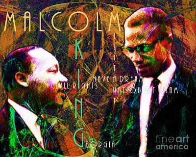The American Dream Digital Art - Malcolm And The King 20140205 With Text by Wingsdomain Art and Photography