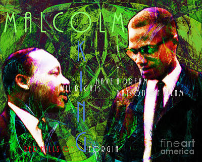 The American Dream Digital Art - Malcolm And The King 20140205p68 With Text by Wingsdomain Art and Photography