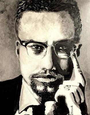 Malcolm X Print by Dareen  Hasan