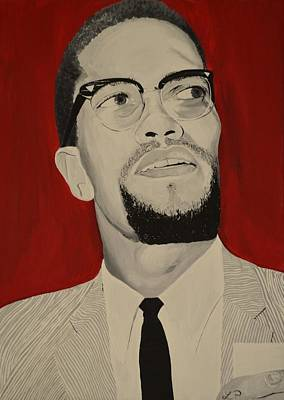 Malcolm X Print by Lakeisha Phillips