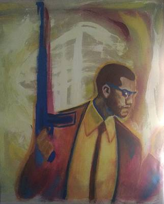 Necessary Means Of Malcolm X Print by Mannaah Blackwell