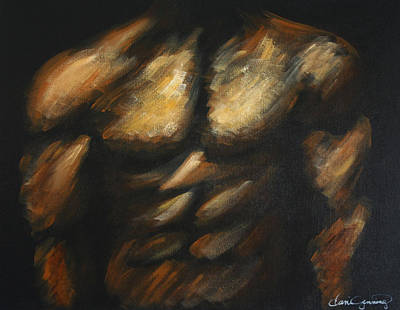 Bodybuilding Painting - Male Bodybuilder by Dani Abbott