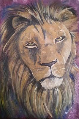Endangered Species Painting - Male Lion by Isabella Abbie Shores