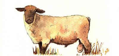 Male Sheep Black Original by Juan  Bosco