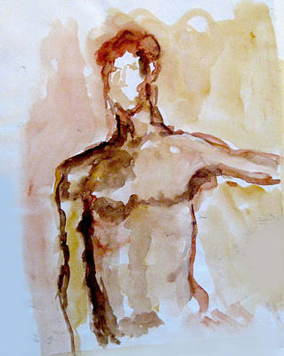 James Gallagher Painting - Male Torso by James Gallagher