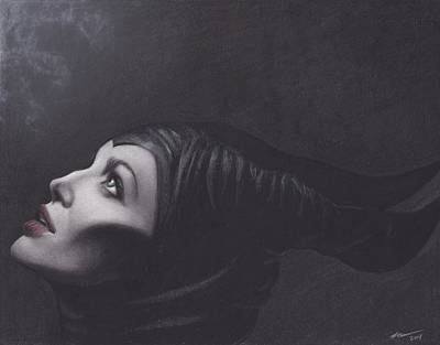 Angelina Drawing - Maleficent by Brittni DeWeese