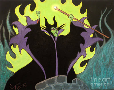Maleficent Painting - Maleficent by Casey Tovey