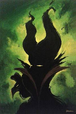 Maleficent Painting - Maleficent by Jesus Catalan