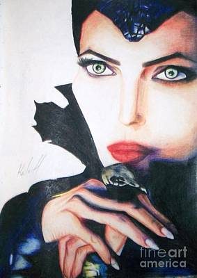 Maleficent Drawing - Maleficent by Kaila Hernandez