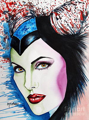 Maleficent Painting - Maleficent by Maria Barry