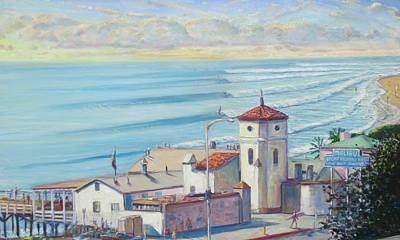 Malibu Painting - Malibu Pier by Michael Knowlton