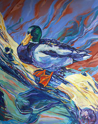 Drake Painting - Mallard Duck by Derrick Higgins