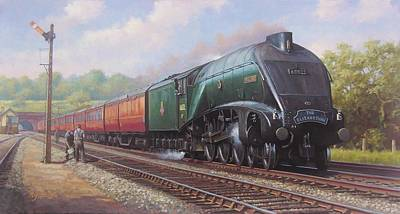 Express Painting - Mallard On The Elizabethan. by Mike  Jeffries