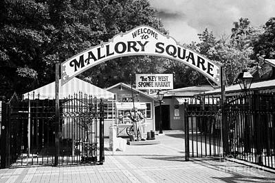 Mallory Square And Key West Sponge Market Florida Usa Print by Joe Fox