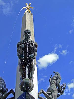 Malmo Photograph - Malmo Fountain 06 by Antony McAulay
