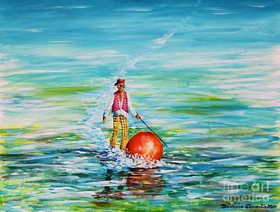 Strolling On The Water Original by Dariusz Orszulik