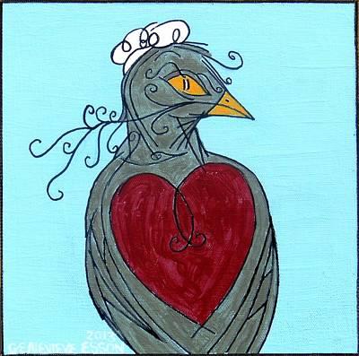 Mama Bird Detail Print by Genevieve Esson