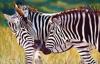 Zebra Painting - Mamaissimo by Amanda Schuster