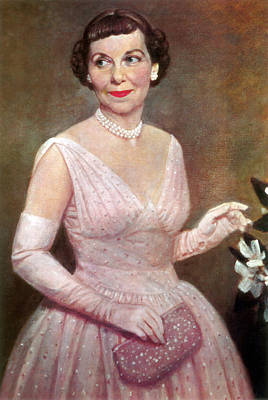 American First Lady Painting - Mamie Eisenhower, First Lady by Science Source