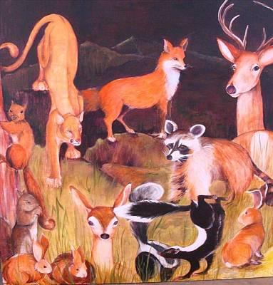 Mammals Of Marin  Where Will We Go Original by Georgia Annwell