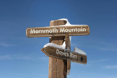 Mammoth Photograph - Mammoth Mountain Sign In Mono County by Carol M Highsmith