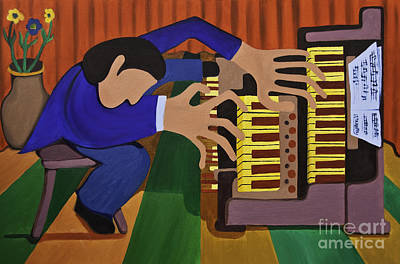 Bluecoat Painting - The Organist by James Lavott