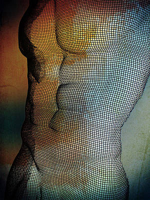 Artistic Nude Digital Art - Man Body by Mark Ashkenazi