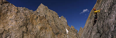 Man Climbing Up A Mountain, Grand Print by Panoramic Images