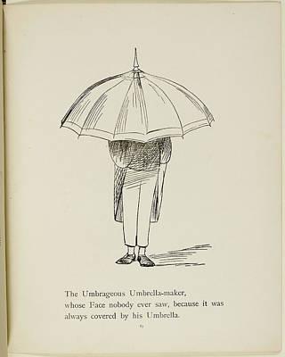 Edition Photograph - Man Holding Umbrella by British Library