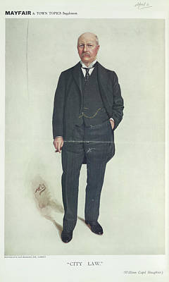 Man In A Three Piece Suit Smoking A Cigar Print by British Library