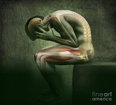 Man In Pain, Artwork Print by Claus Lunau