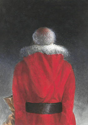 Reverse Painting - Man In Red Coat by Lincoln Seligman