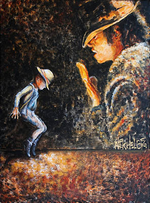 Michael Jackson Painting - Man In The Mirror by Nik Helbig